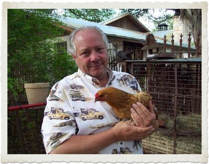 Evans Weaver loves his chickens