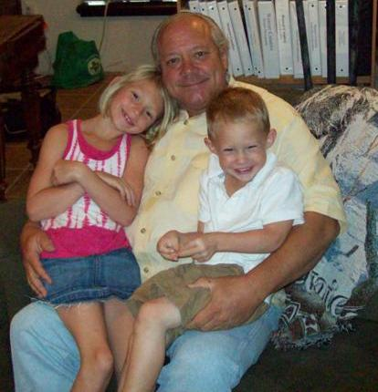 Evans Weaver with grandchildren 2010