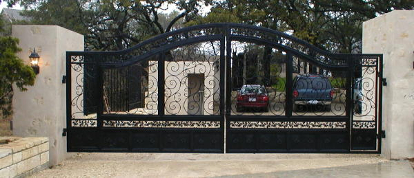 10324 bee caves road - weaver creative entrance iron gates - evans weaver