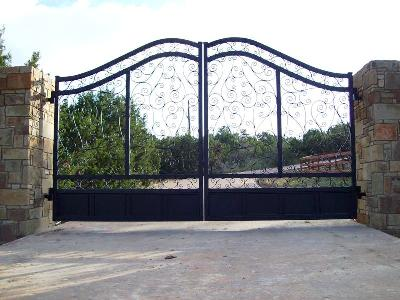 Iron Entrance Gates - Evans Weaver