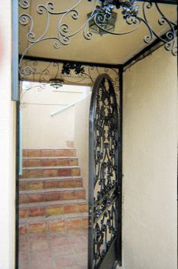 custom iron gate - weaver creative - evans weaver