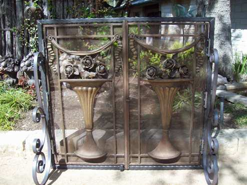 Iron Fireplace Screen - Evans Weaver