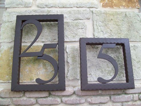 Decorative Iron Numbers - Evans Weaver