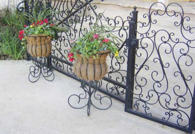 iron pool gates - fencing -  weaver creative - evans weaver